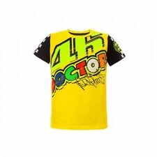Official VR46 Valentino Rossi MotoGP 'The Doctor' Kid 46 Cotton T-Shirt - Yellow