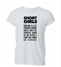 Short Girls Funny Hipster Tumblr Swag Dope Unisex T-Shirt Tshirt Top