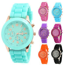 Fashion Wrist Watch Geneva Quartz Analog Sports Wrist Watch Candy Color