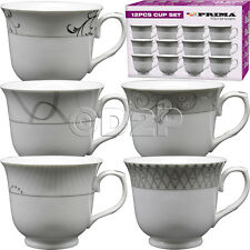 12PC CUP TEA COFFEE DRINKS MUGS CUPS GIFT SET KITCHEN PORCELAIN CHINAWARE