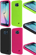 AMZER Soft Silicone Skin Jelly Case Gel Cover For Samsung Galaxy S6 edge SM-G925