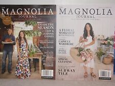 THE MAGNOLIA JOURNAL MAGAZINE 2016,PREMIER ISSUE &MAGNOLIA JOURNAL#2 SPRING 2017