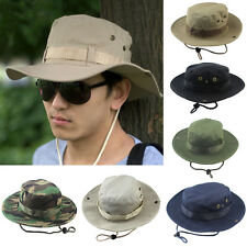 Fashion Men Hunting Hat Military Army Cap Boonie Outdoor Fishing Wide Bucket New