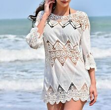 Top Totty Womens Sexy Beach Cover Up Lace Crochet Dress