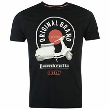 Lambretta Scooter Stand T Shirt Men's Navy Blue Mod Retro Indie Free UK Post