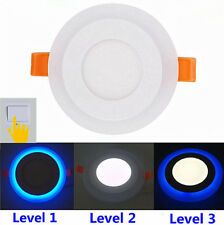 2 / 4 Pcs Dual White Blue / White Red Slim Recessed LED Panel Light Ceiling Lamp