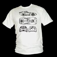 AC Cobra Daytona Schematic style Le Mans legend mens T-shirt