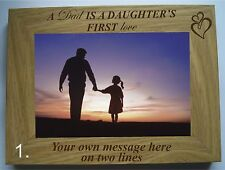 """PERSONALISED LASER ENGRAVED FATHER'S DAY 6"""" X 4"""" PHOTO FRAME"""