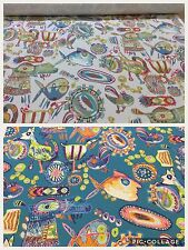 Edinburgh Weavers DESERT Creatures FUNKY Cotton Fabric,Upholstery/Curtains/Craft
