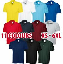 Uneek Men Women Premium Polo Shirt Work Top Casual Blank Plain Short Sleeve Lot