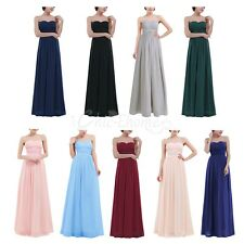 Womens Bridesmaid Dress Formal Long Prom Ball Gown Wedding Evening Party Maxi