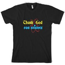 Thank God para CIENCIA - Hombre Camiseta - Sheldon - Divertido - TV-10 Colores