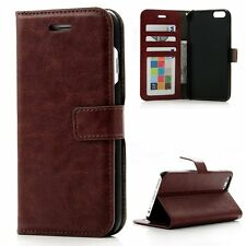 iPhone 6 6S Flip Case Wallet Cover, Credit Card & Photo ID Slots Purple