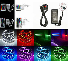 12V 5M RGB LED Colour Changing Strip Light Kit + Remote Control + Power Supply