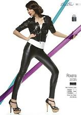 ROXANA Leggings in Ecopelle Neri 200 DENARI con Cuciture Decorative in Rilievo