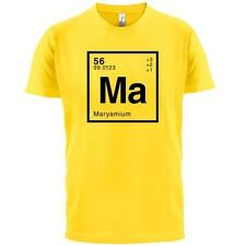 MARYAM Periodic Element - Mens T-Shirt - Geeky / Chemistry - 13 Colours