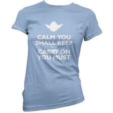 Calm You Shall mantenerse AND CARRY ON Esencial - Mujer / Camiseta - Película