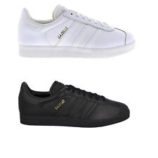 Brand New Original Mens Adidas Gazelle White Black Gold Trainers Shoes Sneakers