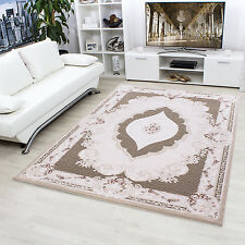 Design moderne en acrylique Tapis Salon ALPINA conception Oriental 5210 marron