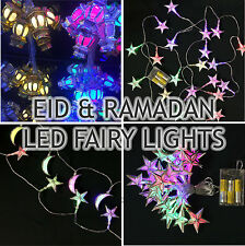 Ramadan and Eid Decorations Fairy Lights Gold & Silver  LED Lights Mulitcoloured