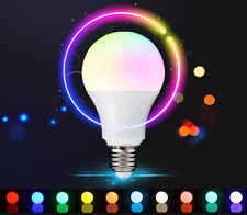 10W B22/E27 RGB & Wihte LED Dimmable Light Bulb Colour Changing Lamp + Remote