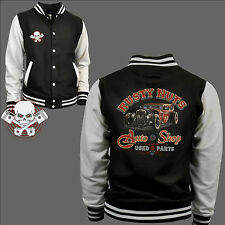 Varsity Giacca College Auto Sportiva Automobile Tuning Officina Kustom Garage