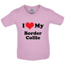 I LOVE MY borde collie - Infantil/Infantil Camiseta - perro - CANINO - Cachorro