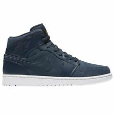 Nike Air Jordan 1 Mid Armory Navy Mens High Top Trainers All Sizes