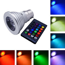 5W LED RGB Bulb Light Lamp, E14 E27 B22 GU10, 16 Colours+Remote, Memory Function