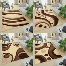 New Soft Shaggy THICK 5CM  Modern Rugs For Living Room Bedroom Mosaic Cream
