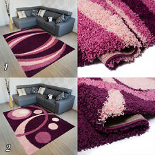 New Soft Shaggy THICK 5CM  Modern Rugs For Living Room Bedroom Mosaic Purple