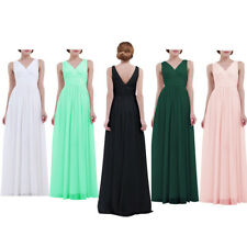 Women Chiffon Long Prom Bridesmaid Evening Party Gowns Cocktail Maxi Dress 4-16