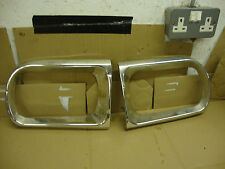 SAAB 95 / 96 V4 1972 1500CC  HEADLIGHT SURROUND PANELS X 2 P/S & D/S