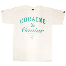 Crooks & Castles Cocaine & Caviar T-shirt White Blue