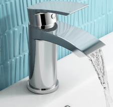 New Modern Chrome Bath Filler Shower Basin Mixer Tap Bathroom Alia Set