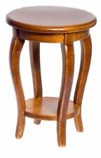 Dollhouse Miniature Walnut Radner Side Table by Town Square Miniatures