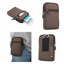 Funda Marron para ALCATEL ONE TOUCH FIERCE 2 7040T Cinturon Universal Multiusos
