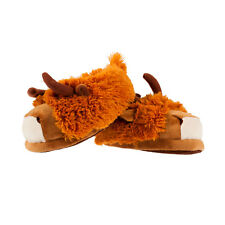 Heritage of Scotland Unisex Highland Cow Novelty Warm Slippers