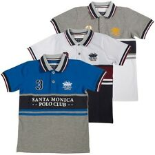 Santa Monica Polo Club Polohemd Jungen Top T-Shirt Sport Top Kinder 4-10 Jahre