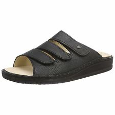 Finn Comfort 1508 Korfu Black Womens Leather Classic Slip On  Mules Sandals