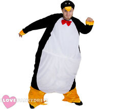 PENGUIN FAT SUIT COSTUME XMAS FUNNY BIRD NOVELTY HOOPED FANCY DRESS CHRISTMAS