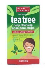 BEAUTY FORMULAS AUSTRALIAN TEA TREE DEEP CLEANSING NOSE PORE STRIPS 6 STRIPS