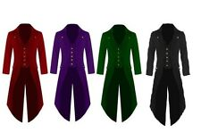 Mens Stock New Steampunk Tailcoat Jacket Multi Color Gothic Victorian Frock Coat