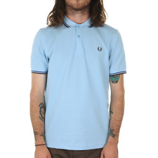 X Fred Perry Twin Tipped Polo Shirt - Glacier