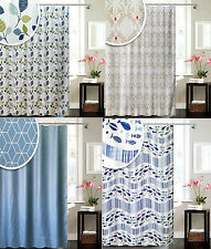 Luxury Polyester Nautical Weighted Hem 180 x 180cm Shower Curtain 12 Hooks