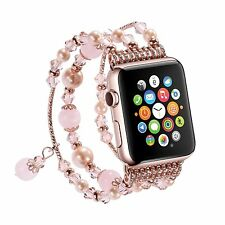 Pearl Beads Bracelet Watch Band Strap for Apple Watch iWatch Series 1 2 3 4