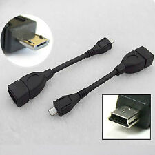V3/V8 Car Phone Micro USB 2.0 A Female to B Male Converter OTG Adapter Cable