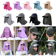 Outdoor Removable Neck Flap Cap UV Sun Protection Fishing Cover Workout Face Hat