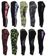 NEW Ladies Yoga Fitness Leggings Running Gym Stretch Sports Pants Trousers 8-16