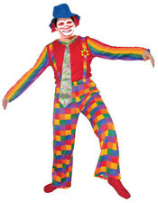 Adults Jolly Laughing Clown Costume By Dress up America Multicolor